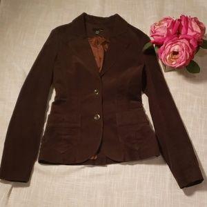 H&M brown courdoroy blazer